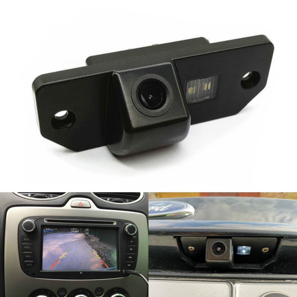 Leemsp Waterproof HD Night Vision Car Rear View Camera Backup Reverse Parking Camera For Ford Focus 2 Sedan 2005-2011 C-Max