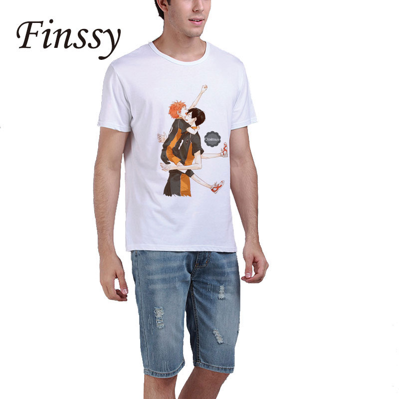 Haikyuu Hinata Syouyou T-shirt for men High School Volley ball Club kageyama tobio Shirt Short Sleeve Top tees Hot Sale