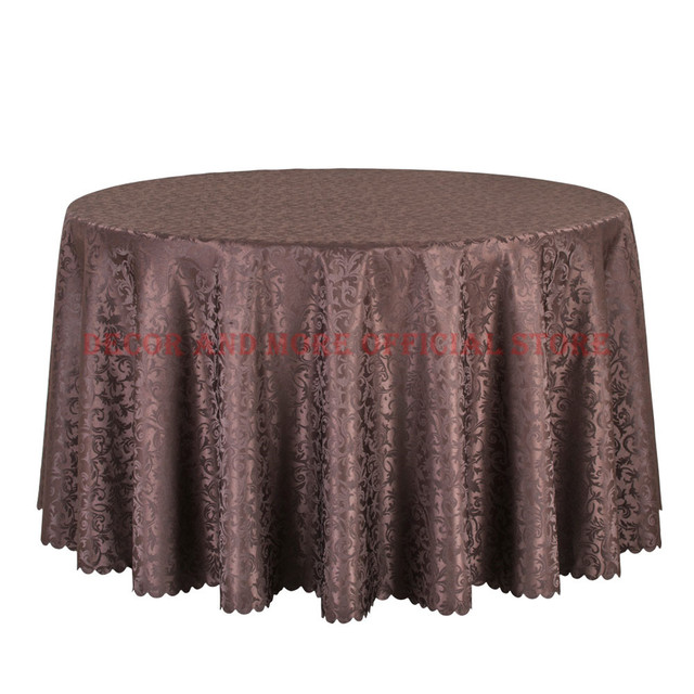 10PCS/LOT Hotel Round Table Cloth Decor Dining Table Linens For Wedding  Party Table Covers