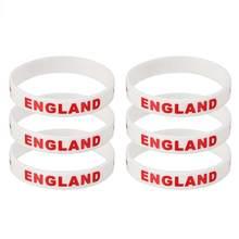 f27e9eab7890 6 piezas país pulsera de silicona Deportes de la moda pulsera para partidos  internacionales favores de fiesta suministros