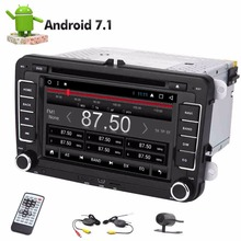 Wireless Backup Camera Android 7.1 8 Core Touch Screen Car DVD Player 2 Din GPS Stereo Radio Video Receiver Navigation Autoradio
