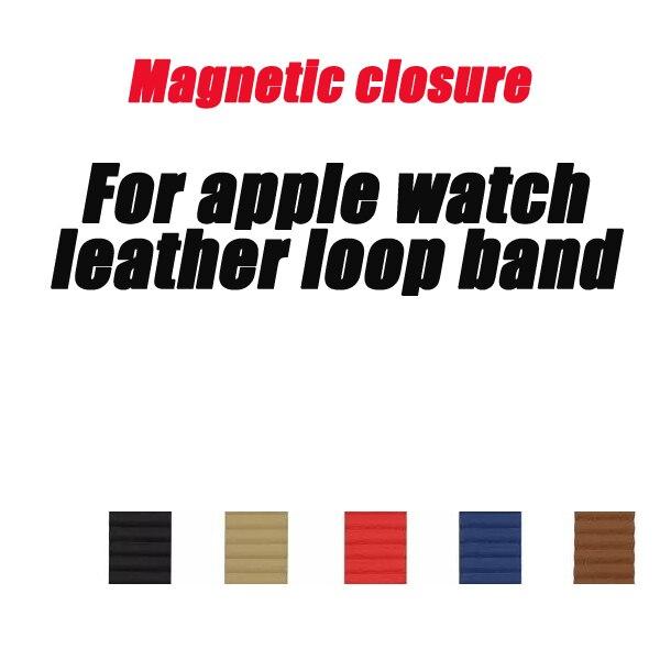 Nouvelles sangles de boucle en cuir pour bracelet de montre apple 44mm 42mm 40mm 38mm lien bracelet fermeture magnétique série 5/4/3/2/1