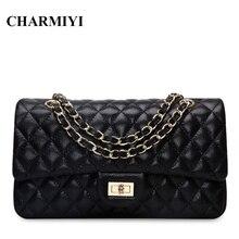 CHARMIYI 2017 luxury genuine leather women messenger bags Famous brand designer High quality Casual women shoulder crossbody bag