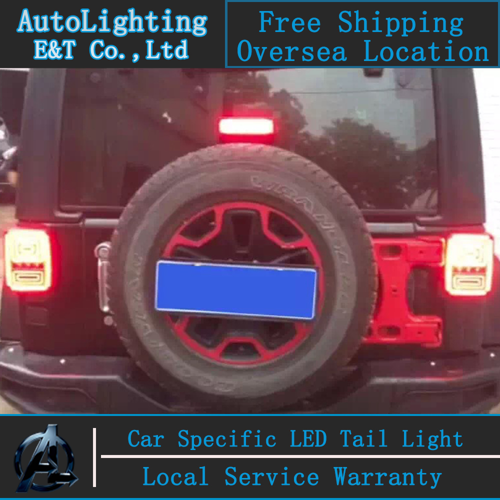Auto Lighting Style LED Tail Lamp for Jeep Wrangler 2008-2014 led tail lights LED rear trunk lamp cover drl+signal+brake+reverse