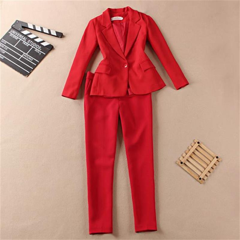 OL professional suit suit female 2018 spring and summer new Korean fashion casual small suit jacket Slim two-piece suit