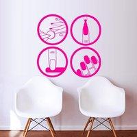 네일 숍 비닐 벽 데칼 매니큐어 아름다움 디자인 마스터 광택 매니큐어 벽화 벽 스티커 네일 살롱 장식 장식