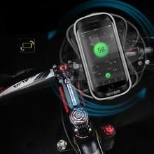 WILD MAN Bicycle 360° Rotate Handlebar Bags Rainproof TPU Touch Screen Cell Phone Holder Bike MTB Frame Pouch Bag