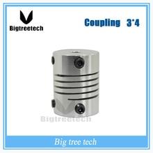3 мм * 4 мм D 20 L 25 соединительная муфта гибкая муфта шагового двигателя для ЧПУ Гибкая Муфта Шагового Двигателя для 3D принтер части