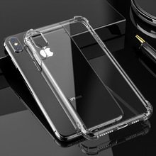 2019 new ultra-transparent phone case for iPhone 6 7 8 anti-drop iPhoneX XS XR Max/iPhone 6S Plus four-corner