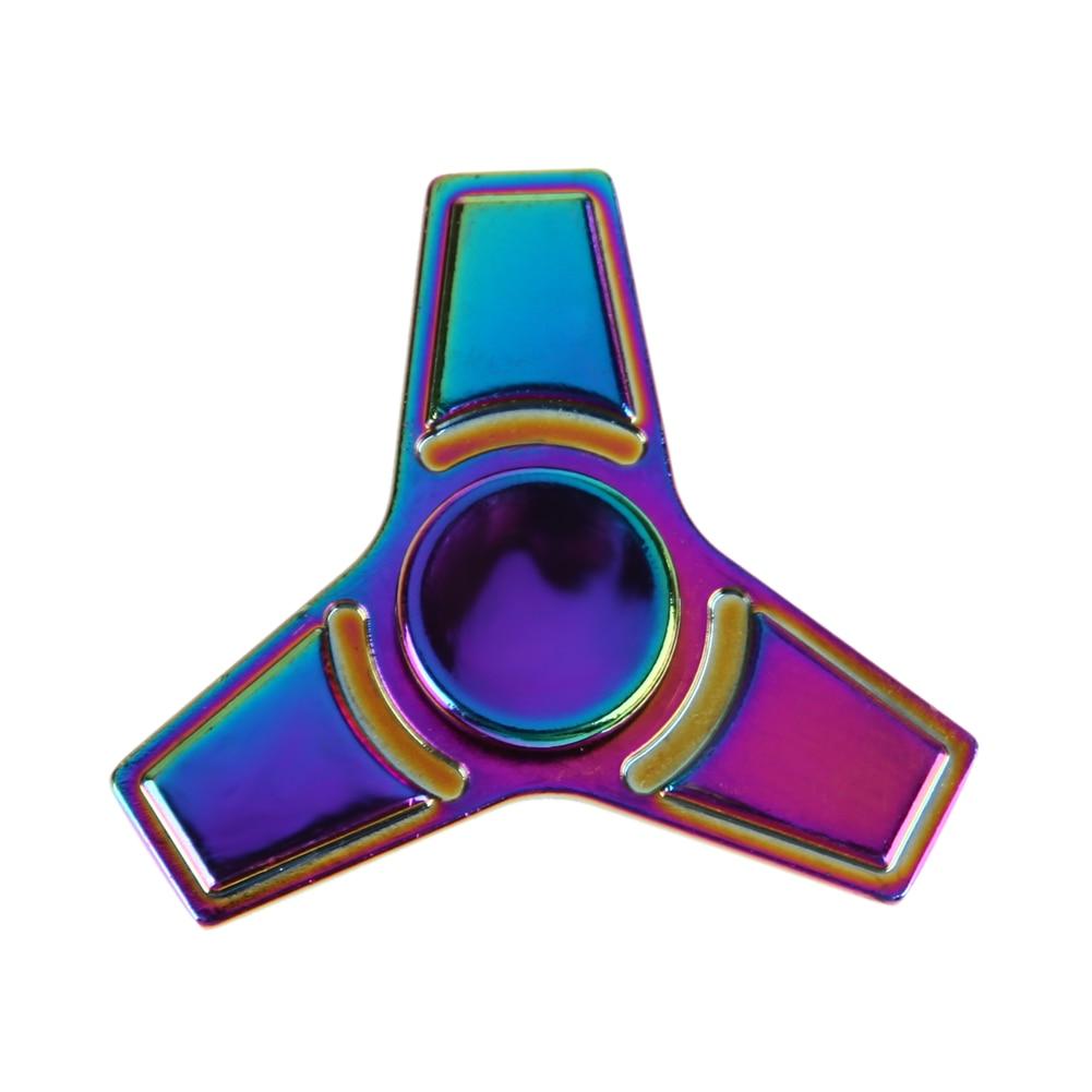 Hand Spinner Colorful Fighet Spinner Metal Tri Fidget Hand Aluminium Alloy Finger Toy EDC Focus