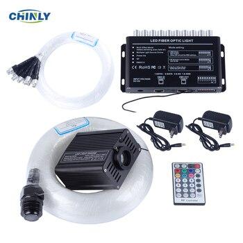 LED Fiber optique étoile lumière Kit 16 W RGBW RF à distance Fiber optique tir effet météore décoratif enfants chambre lumières voiture lumière