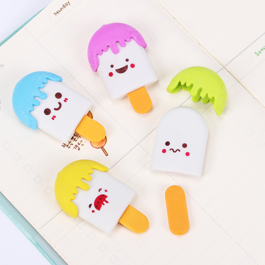 Funny Crab & Popsicle Erasers 3