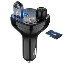Bluetooth sans fil voiture lecteur Mp3 Kit mains libres voiture transmetteur FM A2DP 5 V 3.1A USB LED affichage QC3.0 charge rapide chargeur de voiture