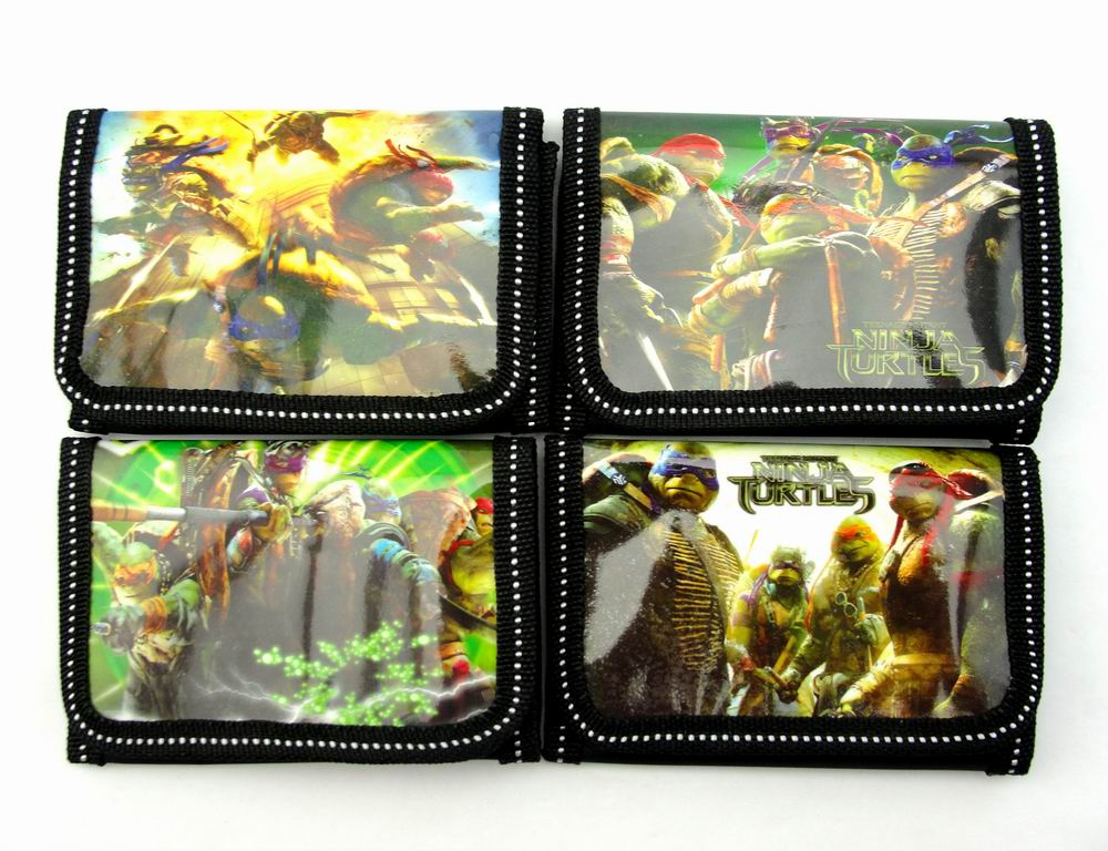 12Pcs Teenage Mutant Ninja Turtles Coin Purse Cute Kids Cartoon Wallet Bag Pouch Children Purse Small Wallet Party Birthday Gift