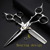Professional hairdressing Scissors 440c steel Hair Barber scissors set Scissors Hair Scissors high quality Salon 6 inch makas