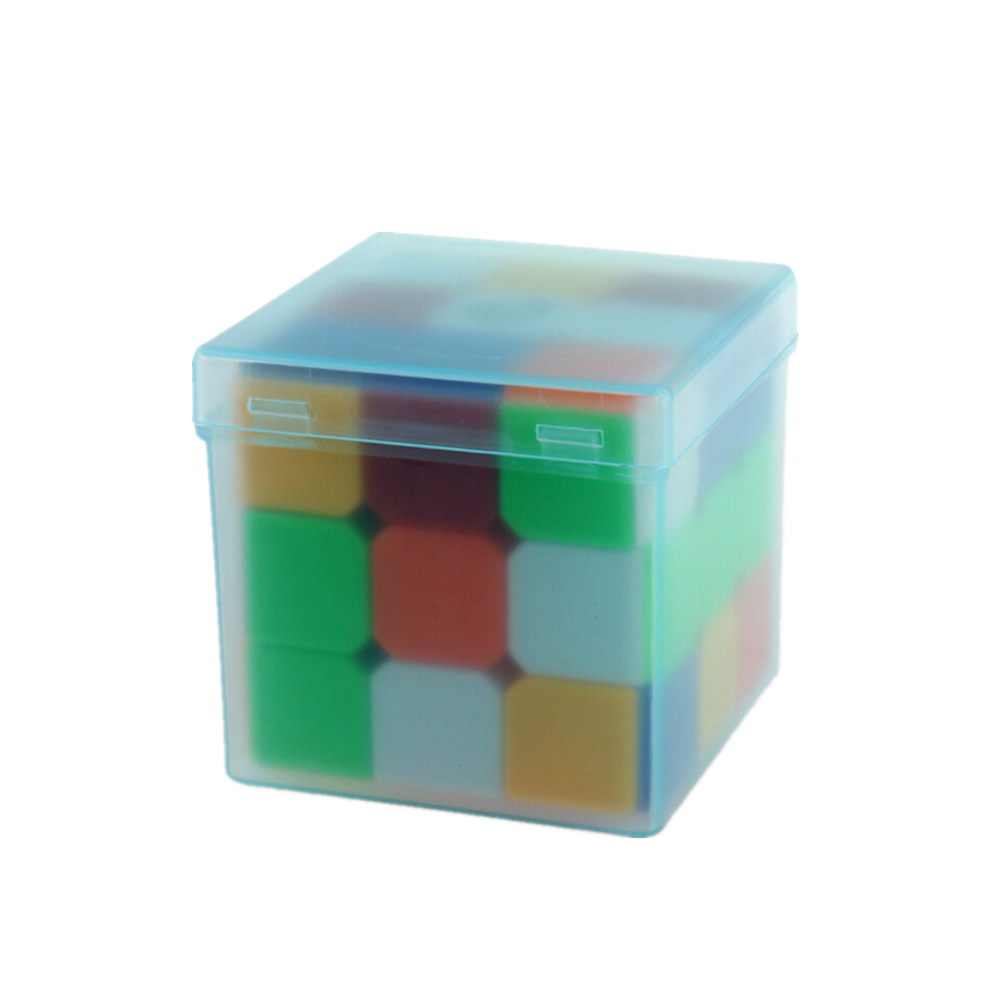 1PCS Plastic Saving Box Outer Packing For 3x3x3 Magic Cube Mini Small Cube Boxes(not Incule Cube) Random Color New