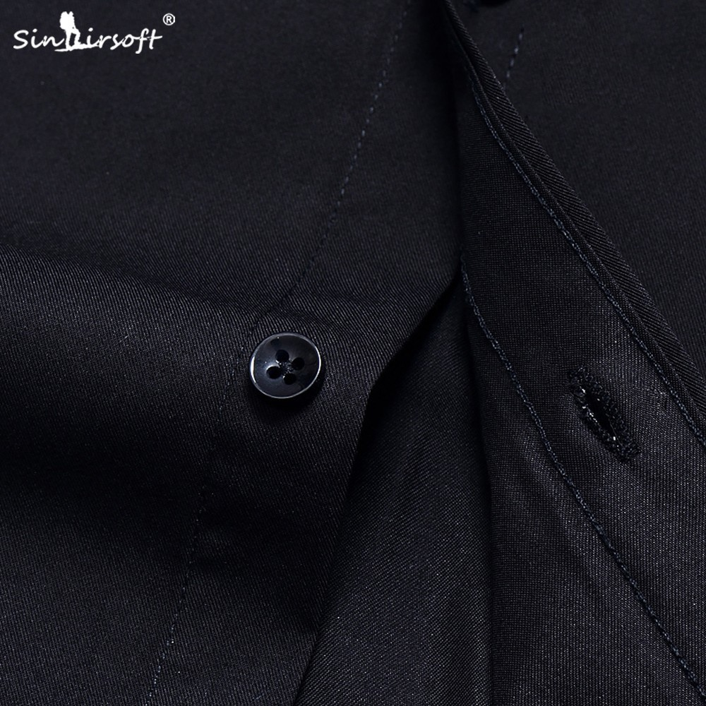 SINAIRSOFT2019 Men 39 s Shirt Short Sleeve Slim Brand Men 39 s Shirt High Quality Men 39 s Clothing Suitable for Business Shirt 42 43 44 in Dress Shirts from Men 39 s Clothing