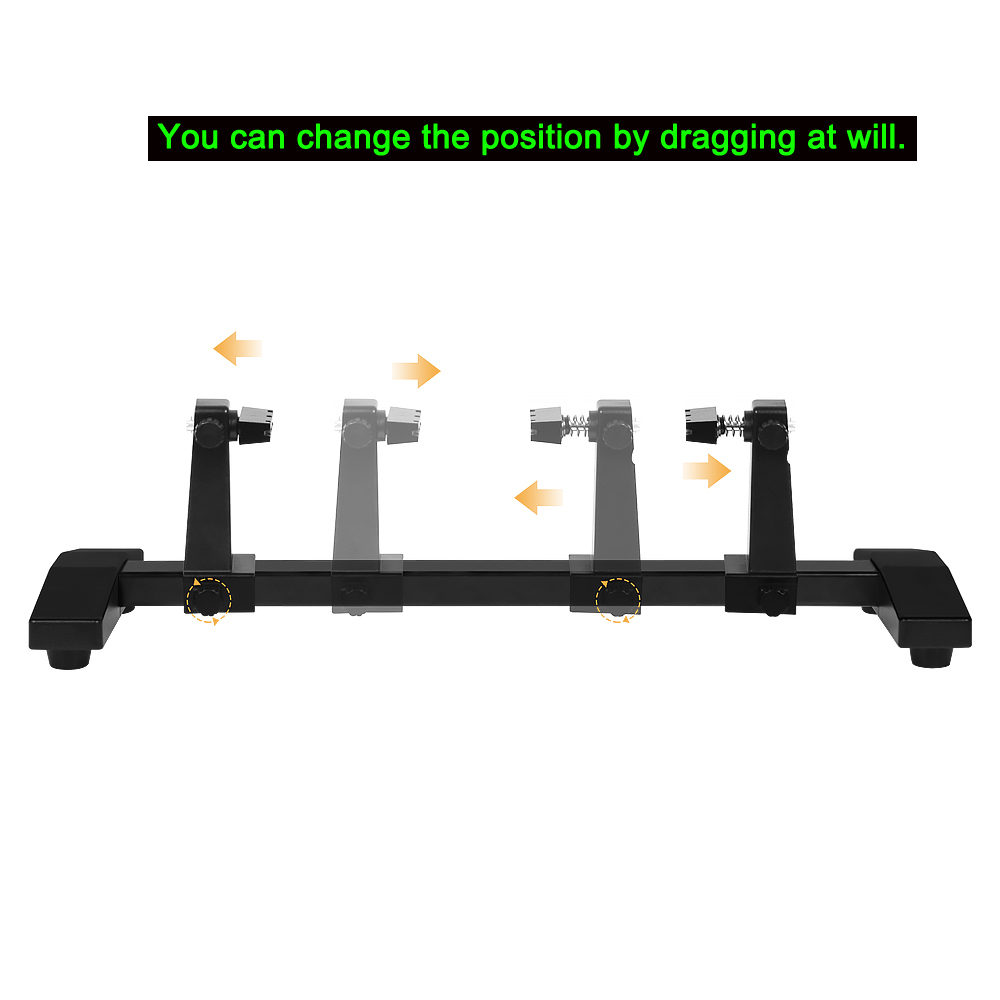 NEWACALOX Magnetic Soldering Stand Adjustable Circuit Board Holder 360 Degrees Flip PCB Holder with Rotation-lock Welding Repair