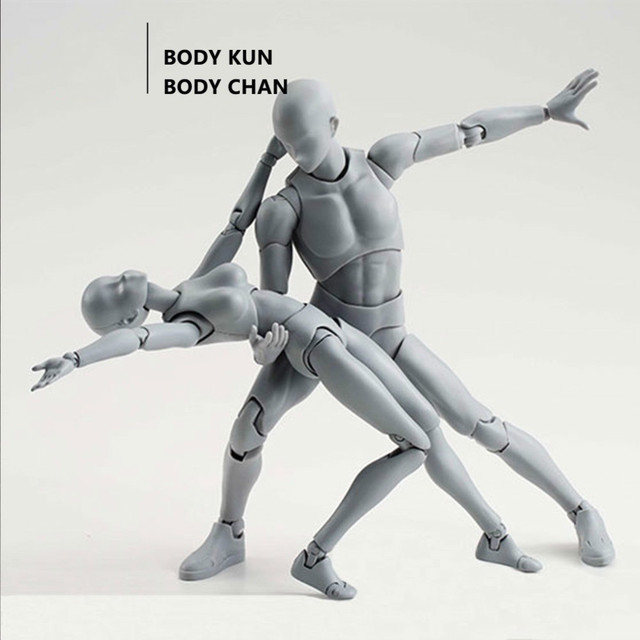 BODY KUN / BODY CHAN Human body simulation model 3 Color Ver. Black PVC Action Figures doll Collectible Toys COLLECTION Gifts