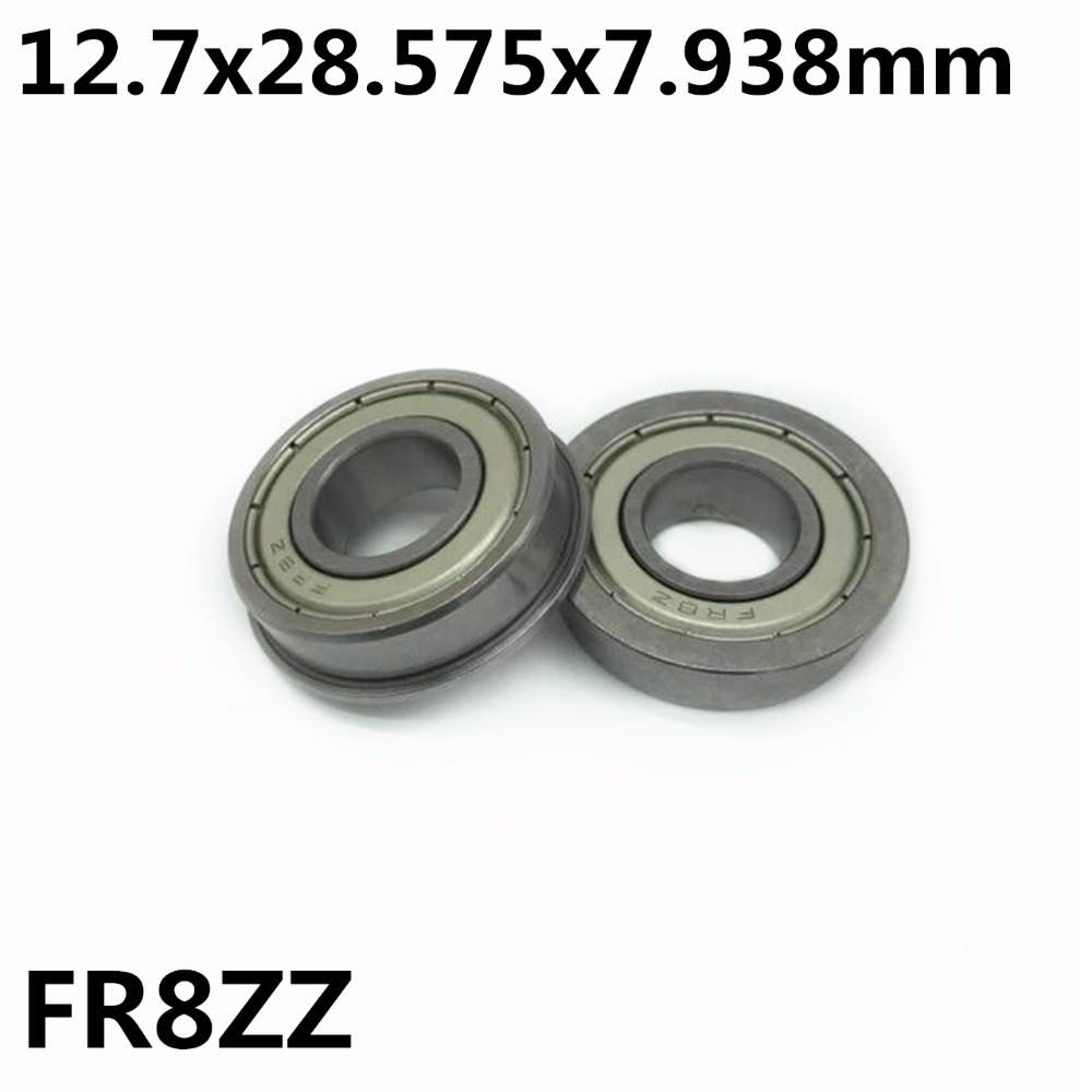 10Pcs FR8ZZ 12.7x28.575x7.938 Mm Flange Bearings Deep Groove Ball Bearing High Quality FR8