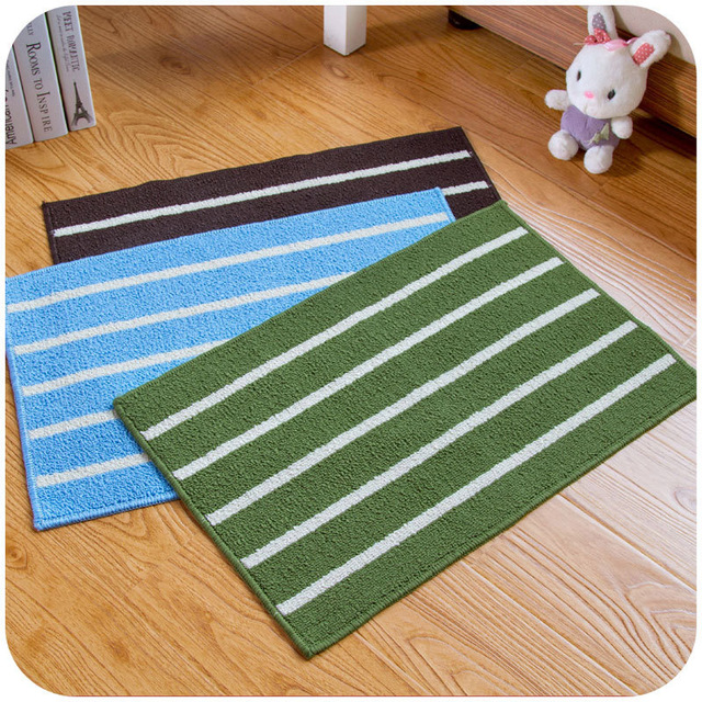 Free Shipping Classical Stripes Simple Mat Mattress Kitchen Bathroom Door  Strip Absorbent Non Slip Mat