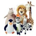 Wholesale  Madagascar plush toys lion zebra giraffe monkey Penguin hippo 6pcs/set children gifts free shipping