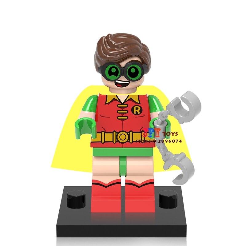 50pcs superhero building blocks Robin Collection bricks friends for girl boy Gift kids children toy brinquedos
