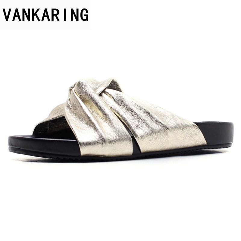 VANKARING summer ladies shoes genuine leather women sandals open toe flats gold gladiator shoes brand fashion casual date shoes mvvjke summer women shoes woman genuine leather flat sandals casual open toe sandals women sandals