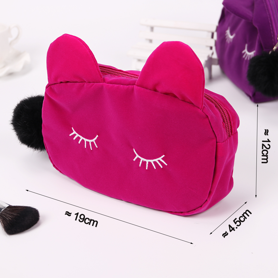 Cute Cat Ladies Makeup Pouch