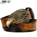 Diamonds eagle belts Genuine L Leather Good Quality business mens belt luxury Designer brand Buckle Male Belts For Men V belts