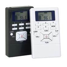 2 Color DSP Radio Portátil FM Radio Receptor Pocket Radio para la Gran reunión con Auriculares Mejor Y4305 Negro Blanco