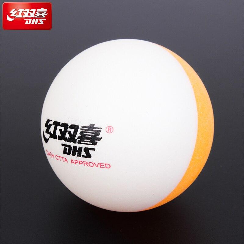 2018 Dhs 20 Bälle Bi Farbe Tischtennis Bälle Doppel Farbe Gesäumt Wird D40 + Bälle Kunststoff Poly Ping Pong Bälle