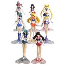 Anime Sailor Moon Venus Jupiter Mercury Mars Saturn Neptune uran PVC figurki zabawki-modele do kolekcjonowania 8 stylów tanie tanio Unisex Film i telewizja Wyroby gotowe Japonia Żołnierz gotowy produkt 14cm 5-7 lat 8-11 lat 12-15 lat Dorośli 14 lat