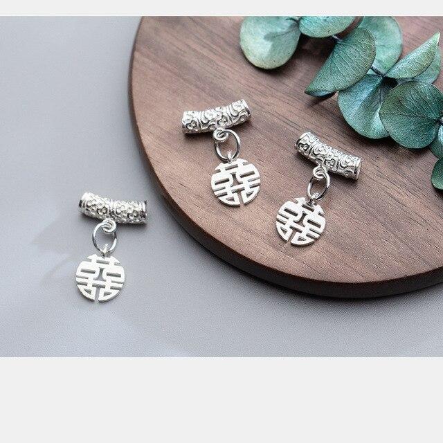 Uqbing 925 пробы Серебряные Китайские подвесные шармы diy ювелирных