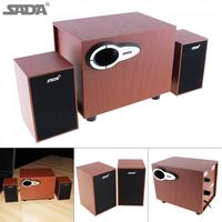 SADA D 200G Wood USB Speaker Player For Computer Smartphone U Disk TF Card With Wireless