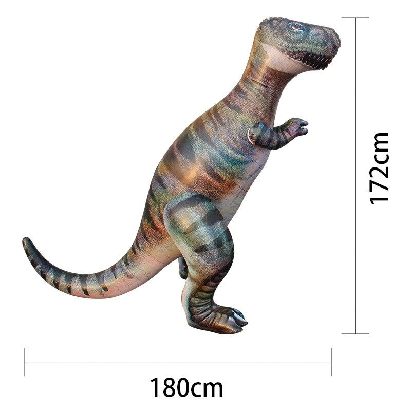 1.8 M Dino herbe pulvérisateur d'eau arroseur enfants gonflable piscine jouets Sports de plein air Ginormous t-rex dinosaure Yard arroseur Splash - 2