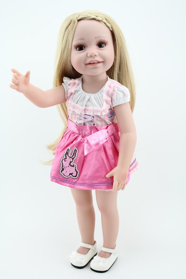 Promotion New Full Vinyl 18 Inch Baby Dolls Toy American Baby Doll