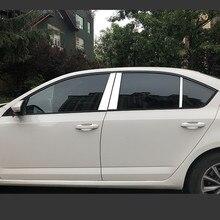 Накладки на окна автомобиля из нержавеющей стали, накладки на обшивку, внешние аксессуары для Skoda Octavia A7