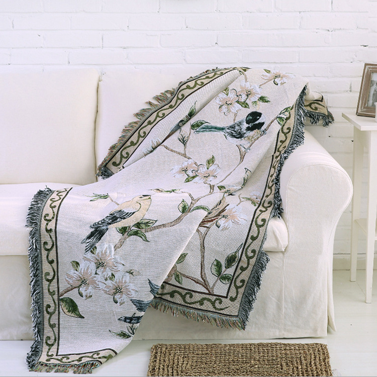 2017 New Cotton Throw Blanket 50*67 Antique Chic Throw Floral Blanket on Sofa Throw Blankets Native American & Southwest Styles