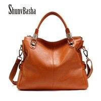 Women Messenger Bags 2015 Hot European American Style Genuine Leather Cowhide Women Handbags Fashion Women Shoulder
