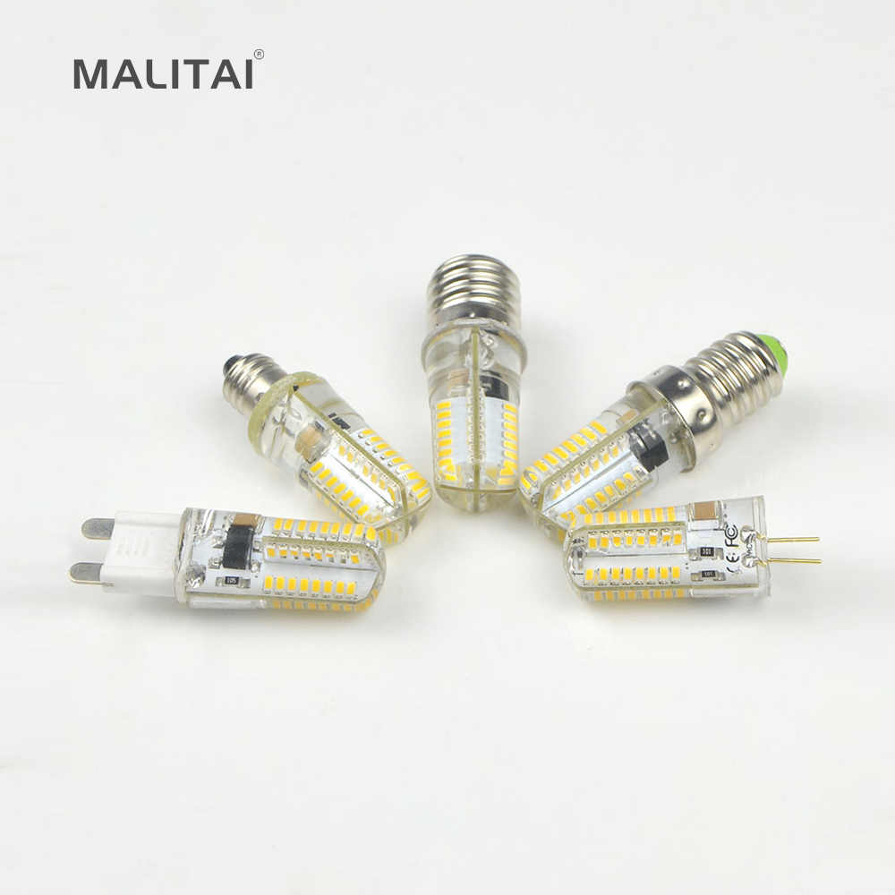 E17 E14 E12 E11 G9 G4 LED Bulb 110V 220V Dimmable LED lamp 5W Silicone Corn light For Chandelier lighting Replace Halogen lamps