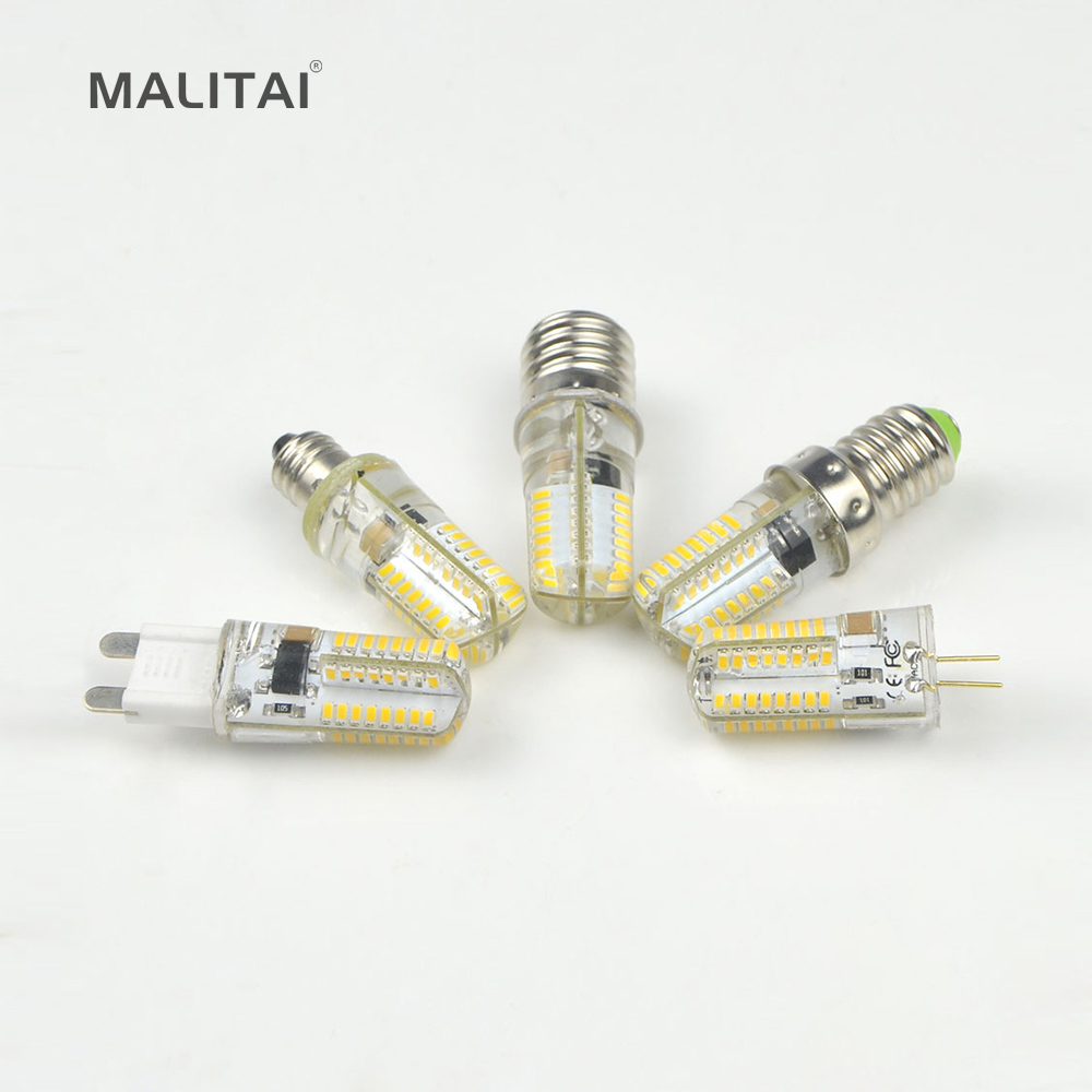 E17 E14 E12 E11 G9 G4 LED Bulb 110V 220V Dimmable LED lamp 5W Silicone Corn light For Chandelier lighting Replace Halogen lamps|LED Bulbs & Tubes| - AliExpress