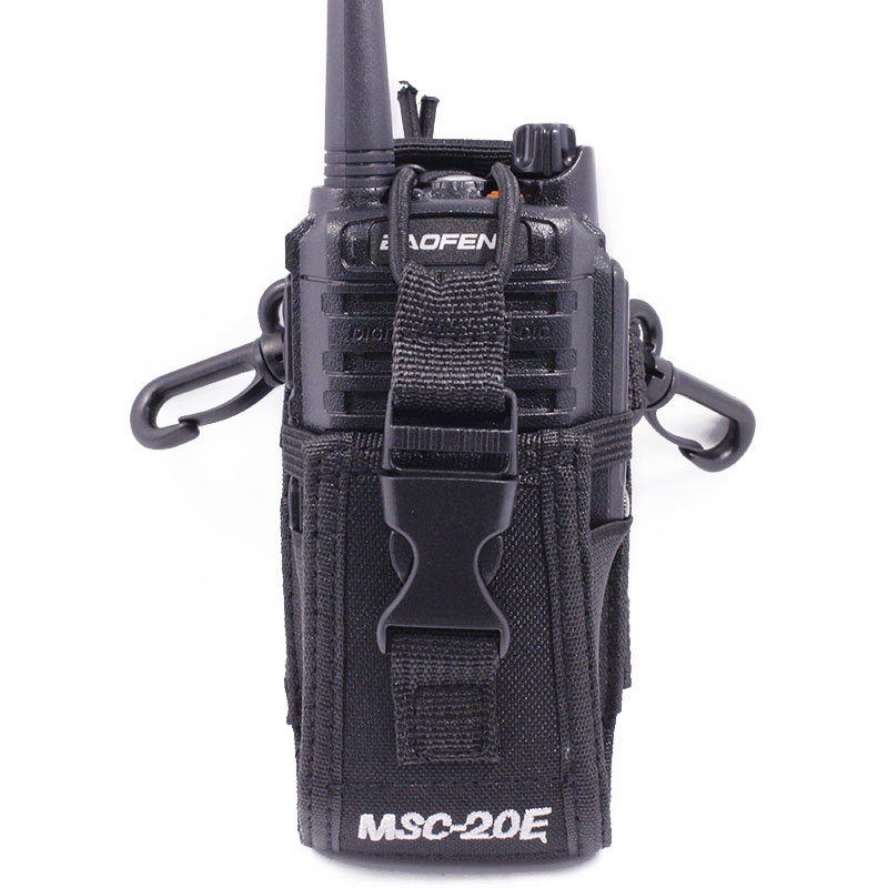 Abbree MSC-20E Portable Walkie Talkie Nylon Case Cover Handsfree Holder for Baofeng UV-5R UV-XR UV-9R Plus UV-82 Walkie Talkie