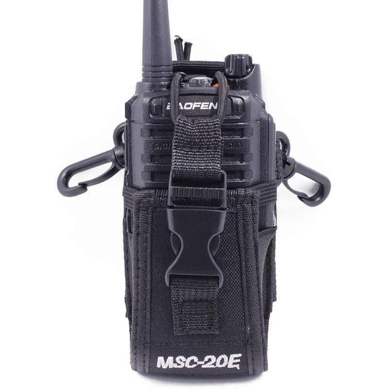 """Abbree MSC-20E Портативный иди и болтай Walkie Talkie """"иди и нейлоновый чехол Крышка громкой связи Bluetooth гарнитура для авто держатель для Baofeng UV-5R UV-XR UV-9R плюс UV-82 иди и болтай Walkie Talkie"""