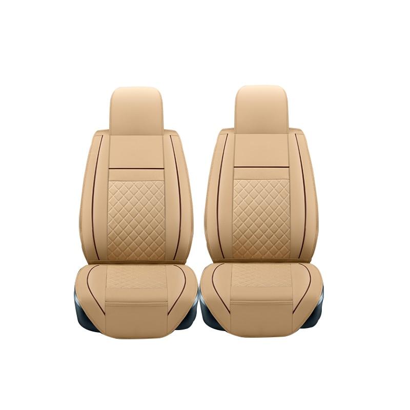 (2 front) Leather Car Seat Cover For Hyundai i30 ix35 ix25 Elantra Santa Fe Sonata Tucson 2016 Solaris Car Styling accessories car accessories luxury sports door wrist bowl stick handle decorative exterior smooth paste for hyundai elantra 2012 2016