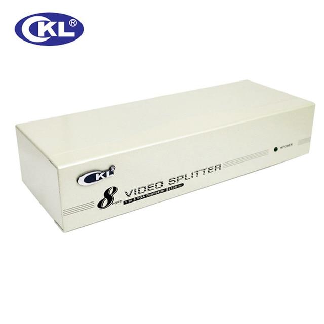 CKL-98A 8 Port VGA Splitter Metal case, 1 in 8 out VGA Distributor 250MHz