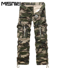 MISNIKI Brand 2018 New Good Quality Military Camo Cargo Pants Men Hot Camouflage Cotton Workout Men Trousers Spring Autumn