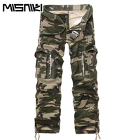 Multi Pocket Casual Military 100 Cotton Plus Size Tooling Camouflage Trousers Khaki 012 P70