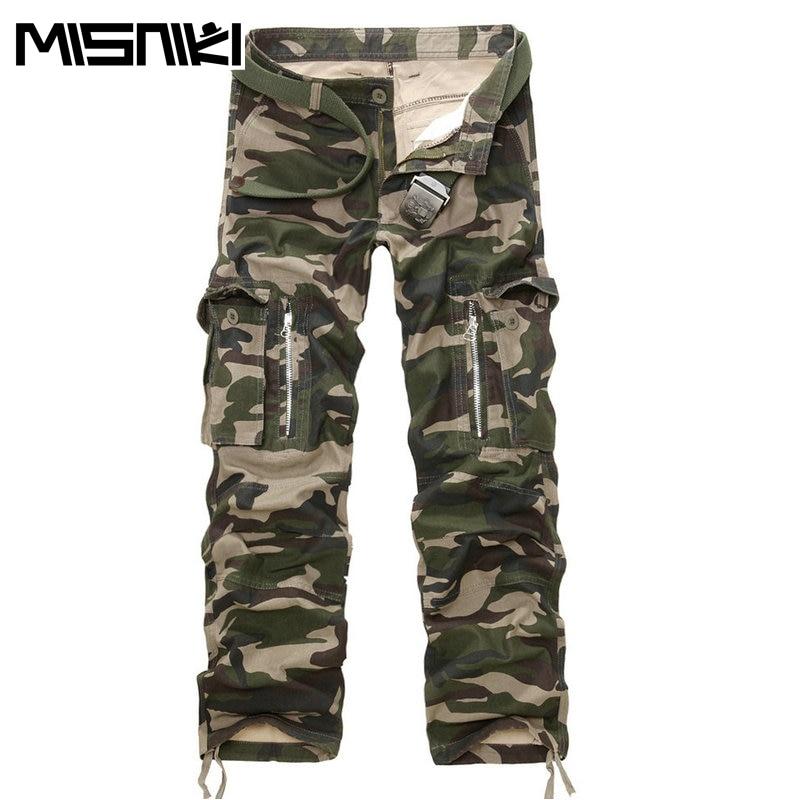 MISNIKI Good Quality Military Cargo Pants Men Hot Camouflage Cotton Men Trousers 7 Colors