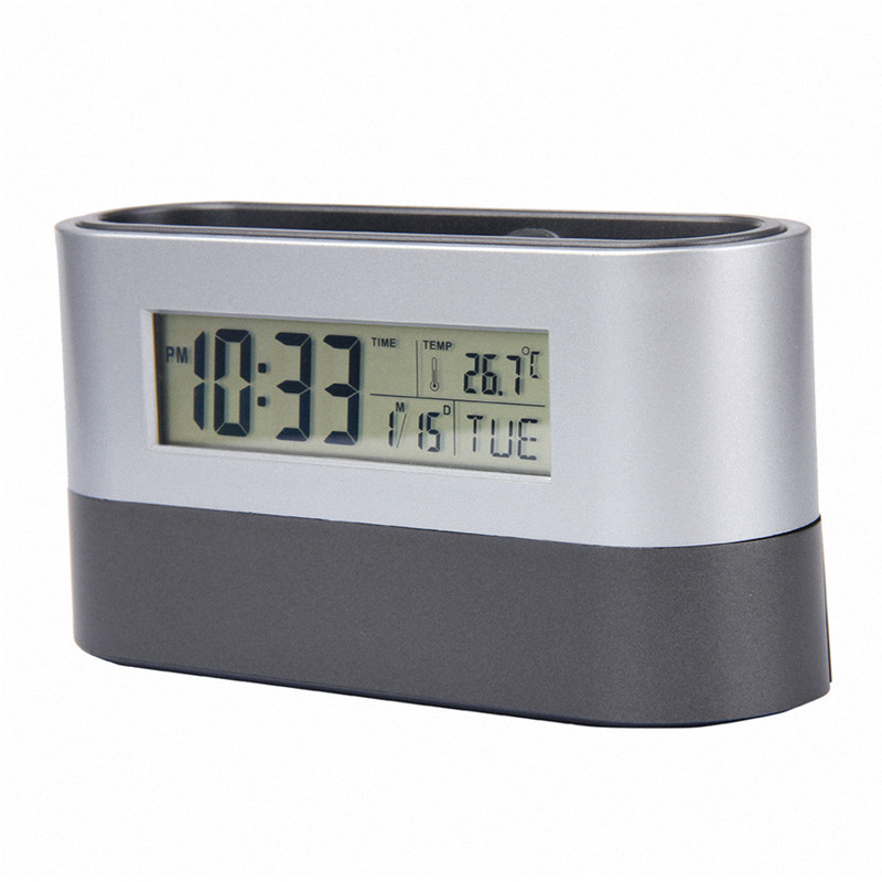 1PC backlight Smart Clock LED Snooze Alarm Calendar Temperature date desk clock big size table alarm clock on sale